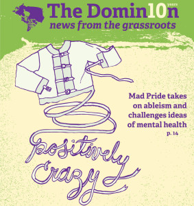 Cover article in The Dominion. Illustration by Emily Davidson.